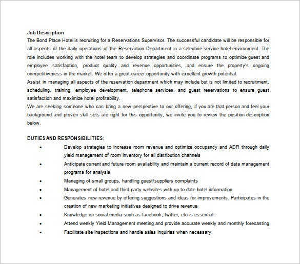 front office assistant manager job description free word download. Resume Example. Resume CV Cover Letter