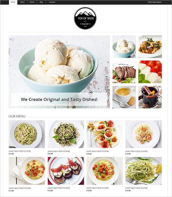 cozy restaurant joomla theme