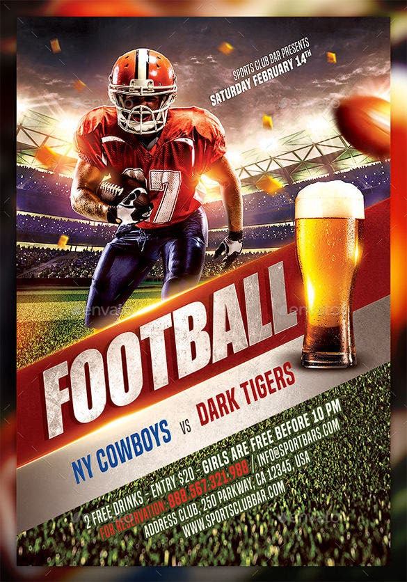 20 Football Flyer Templates Free PSD EPS AI InDesign Word – Sports Flyers Templates Free