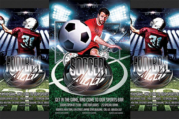 20 Football Flyer Templates Free PSD EPS AI InDesign Word – Free Sports Flyer Templates