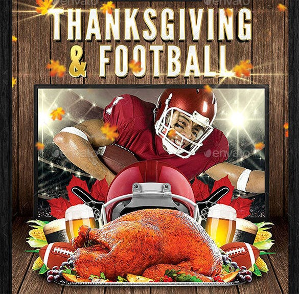 thanksgiving football flyer