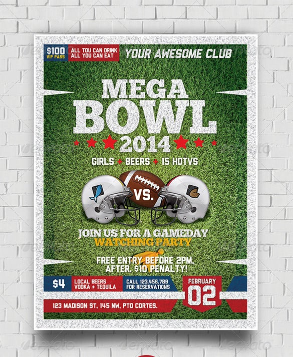 Football Flyer Templates  Free Psd Eps Ai Indesign Word