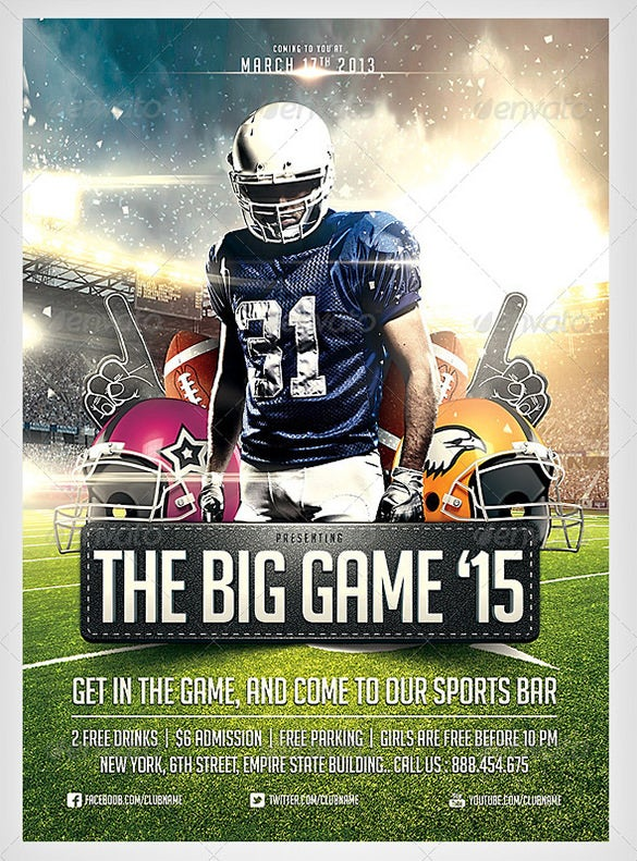 28  football flyer templates