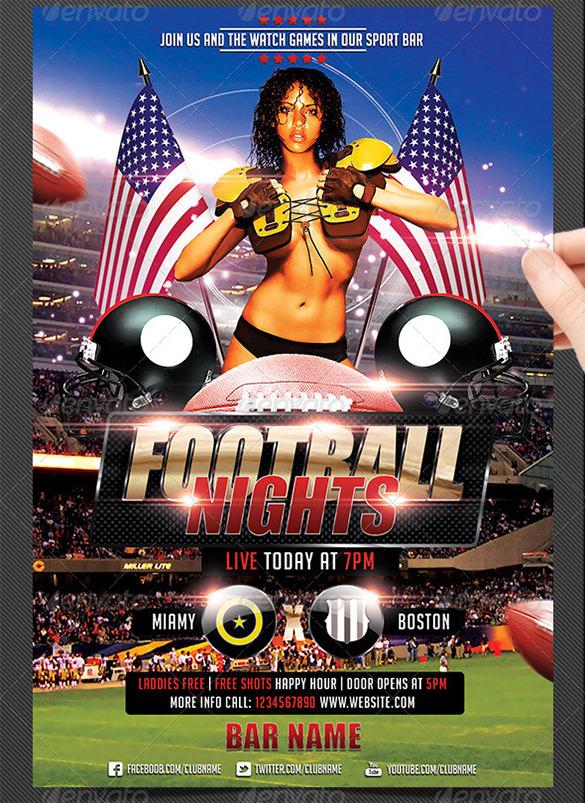 american football flyer