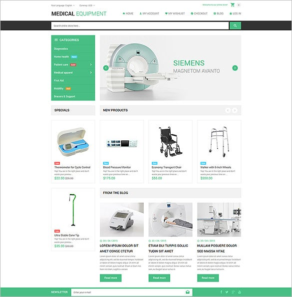 medical stuff store magento theme