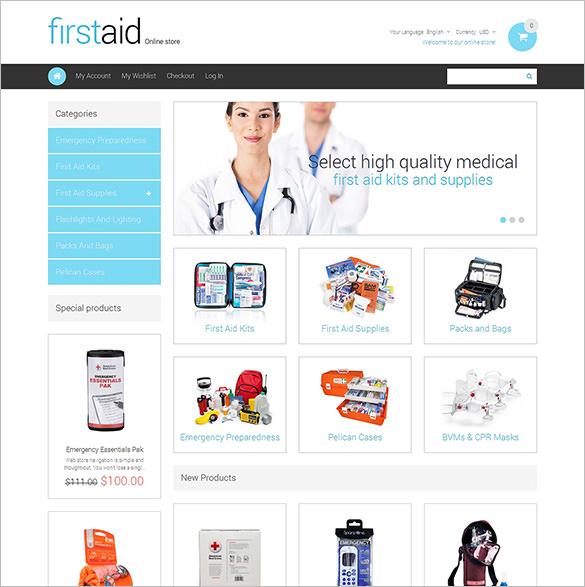 health responsive magento theme