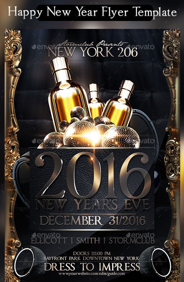 22 new year flyer templates psd eps indesign word for Free psd flyer templates