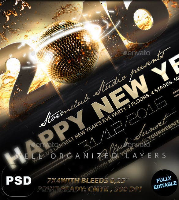 26 new year flyer templates free psd eps indesign word format