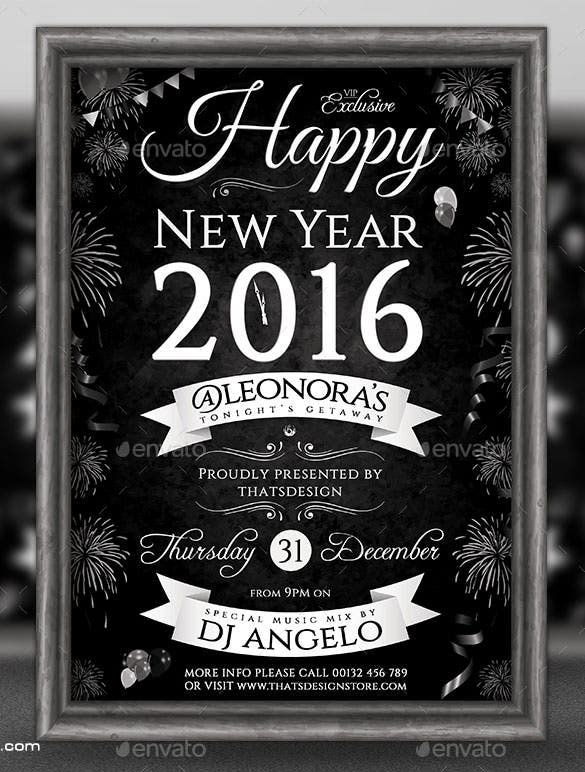 new year flyer template v5 psd download