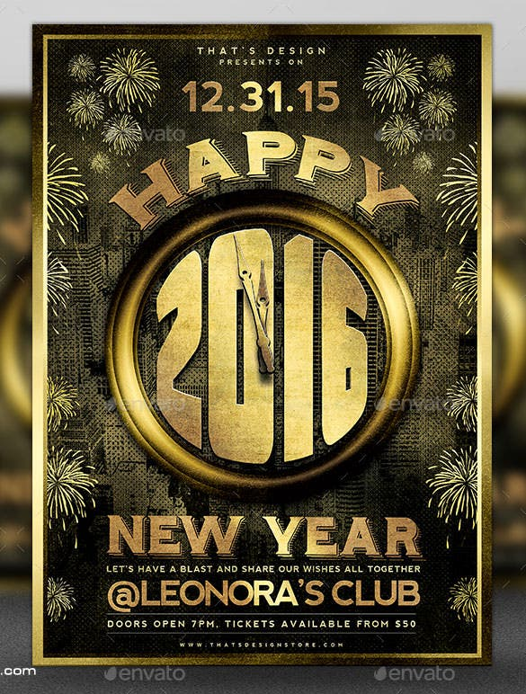 download new year flyer template v4 download