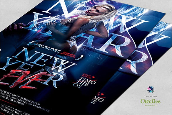 sexy new year eve flyer template download psd design