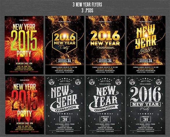 17 christmas new year flyer template psd download