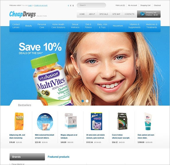 affordable drugs health opencart template