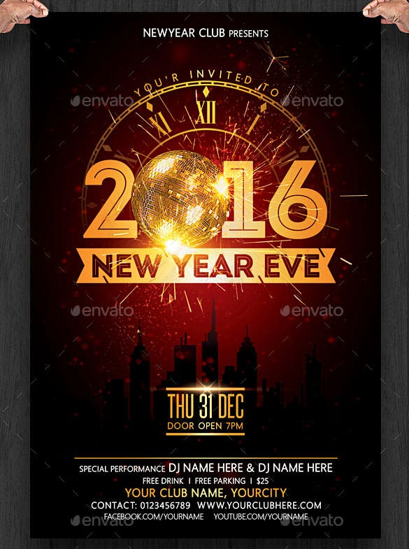 28+ New Year Invitation Templates – Free Word, Pdf, Psd, Eps