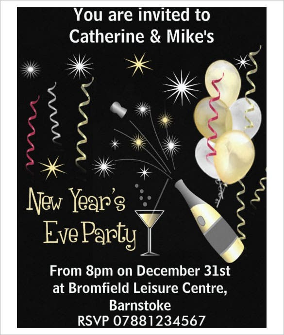 New Years Eve Party Invitation Template Download