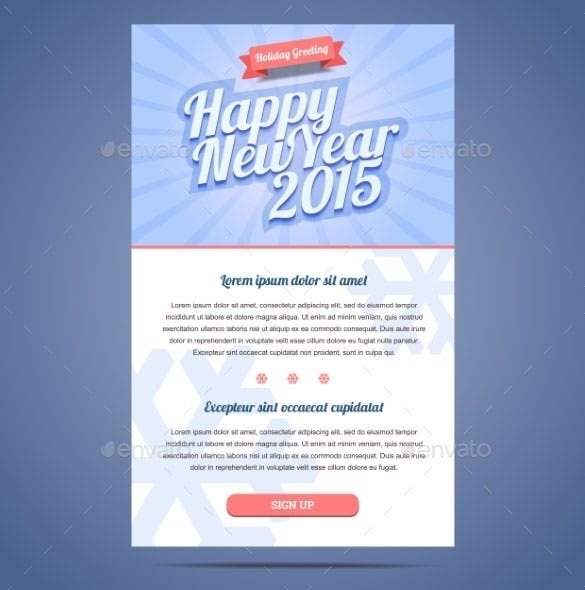 happy new year holiday greeting email template eps format