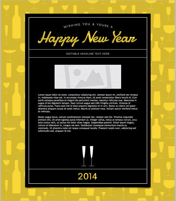 downloadable new years email templates