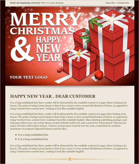 14 New Year Email Templates Free PSD PHP HTML CSS Format – New Year Email Template
