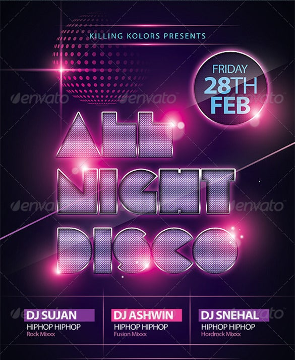 19  disco flyer templates