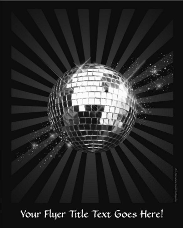 mirror disco ball on black