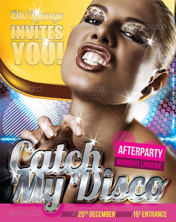 catch my disco flyer