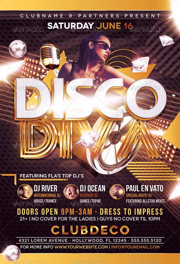 17+ Disco Flyer Templates - Free Psd, Eps, Ai, Indesign, Word, Pdf