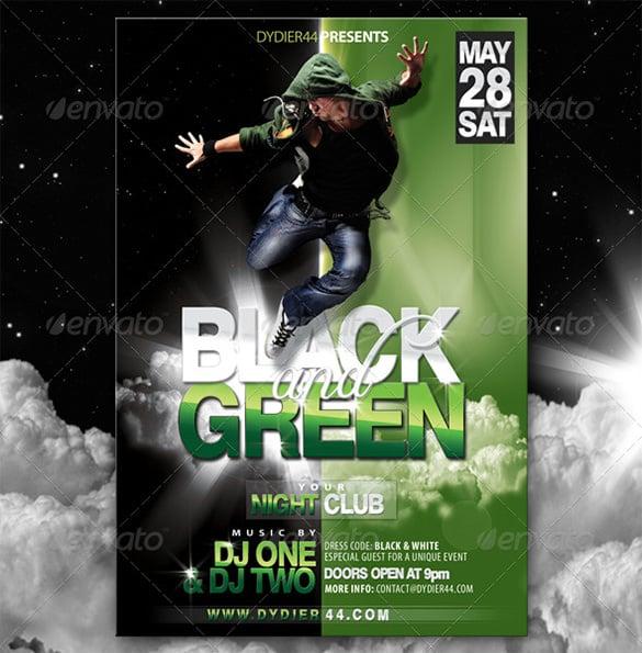 premium black green flyer template