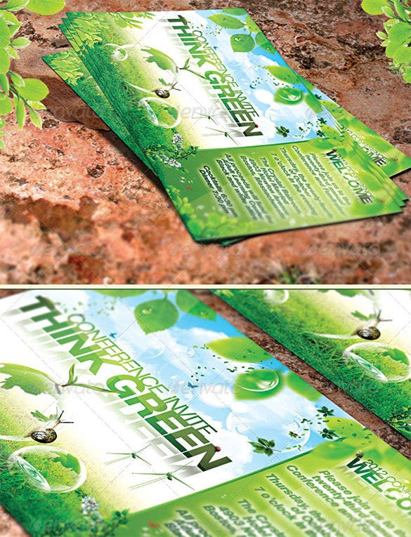green promotion flyer template