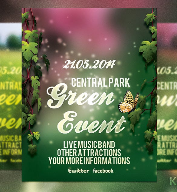 premium green event flyer for you