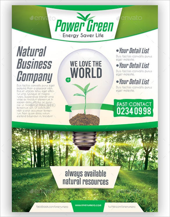 Green Flyer Templates  Free Psd Eps Ai Indesign Word Pdf