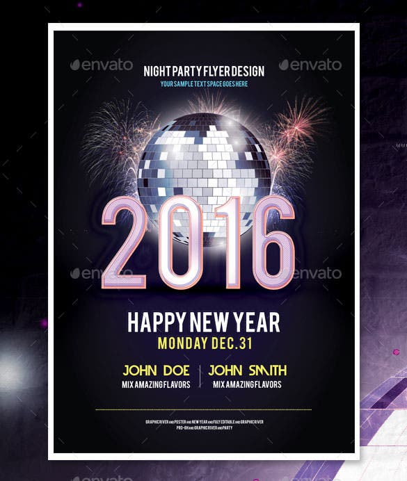 New Year Poster Templates  Free Psd Eps Ai Illustrator