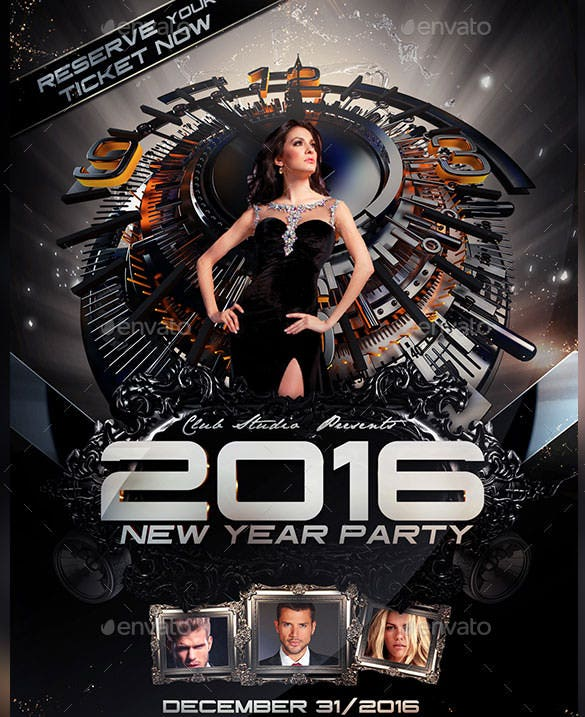 14+ New Year Poster Templates – Free Psd, Eps, Ai, Illustrator