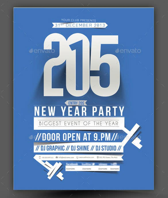 14 New Year Poster Templates Free PSD EPS Ai Illustrator – New Year Poster Template