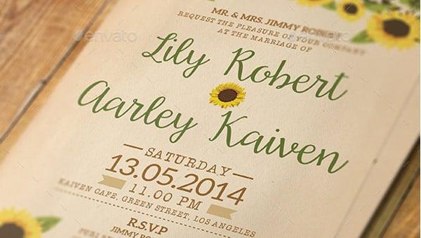 sunflowerweddinginvitationtemplate
