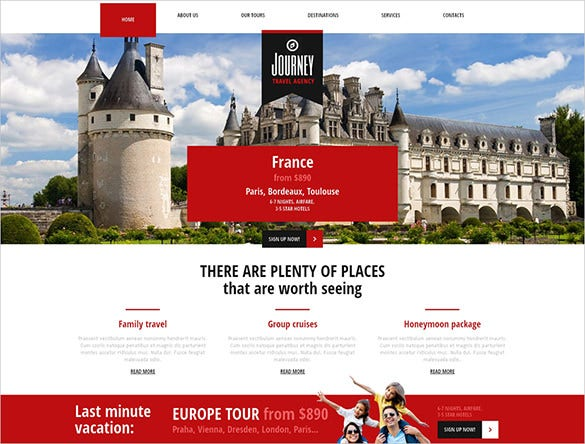 travel joomla responsive theme