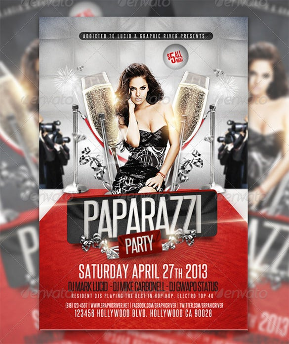paparazzi red carpet flyer