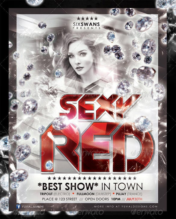sexy red flyer template covers bonus