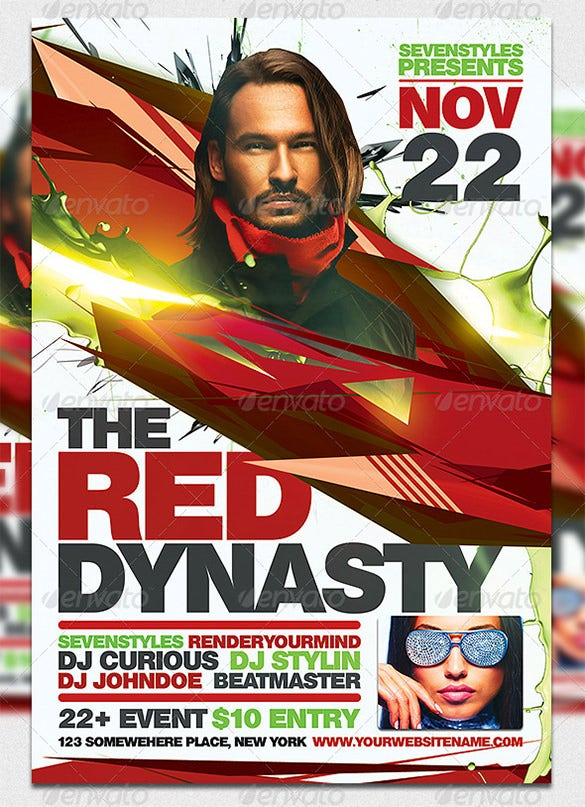 red dynasty flyer template