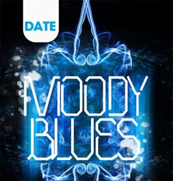 moody blues double sided event flyer