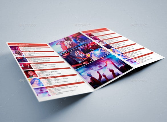 new year dj booking tri fold brochure template