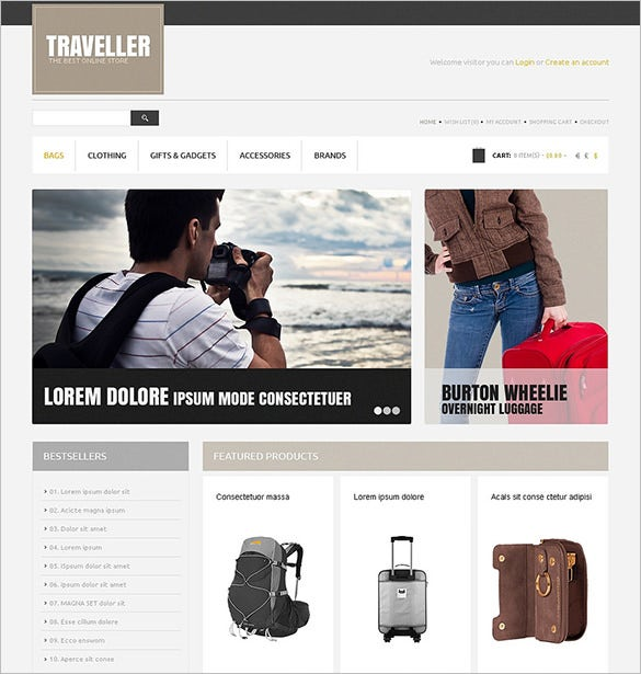 traveller opencart theme