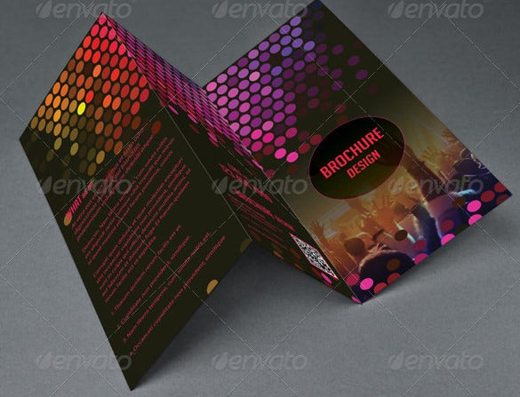 new year night dj party press kit tri fold brochure