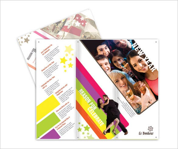 new year trifold brochure design download