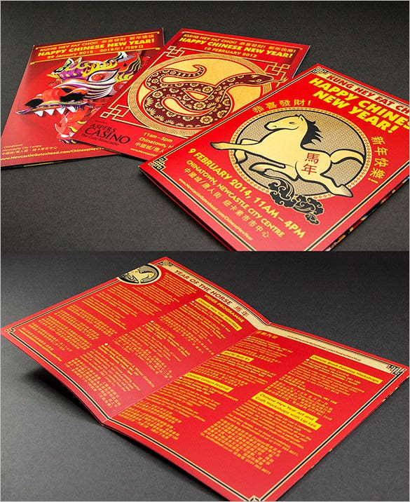 chinese new year celebration brochure