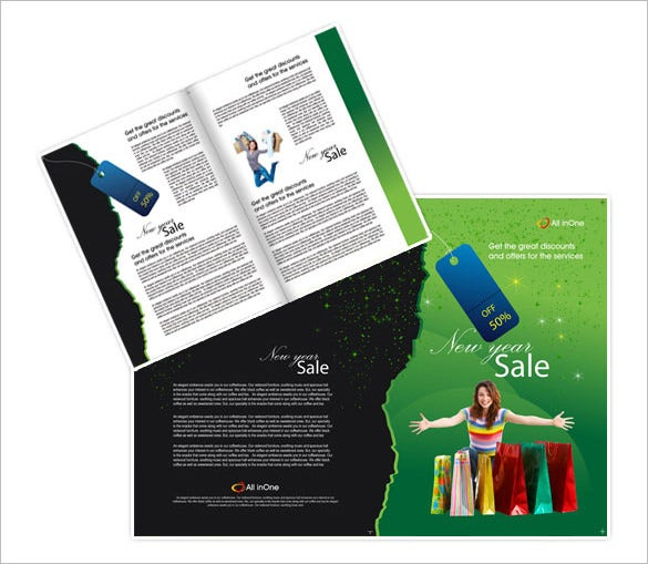 new year discount sales brochure template