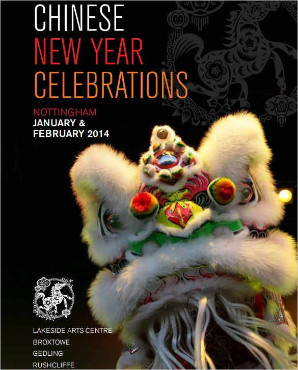 beautifully designed chinese new year brochure