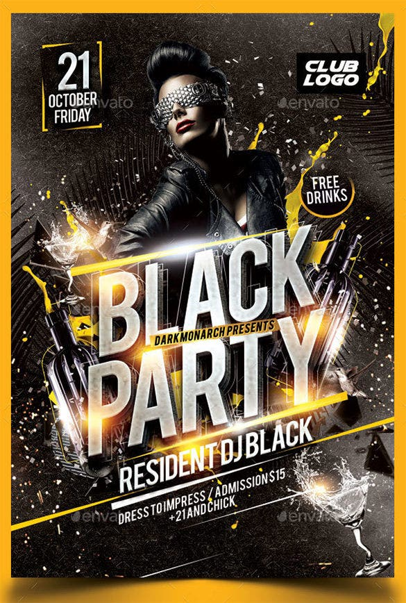 black party flyer