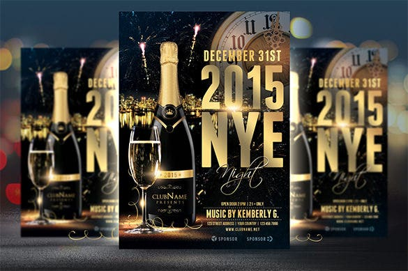 2015 nye flyer template