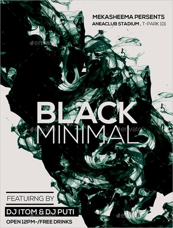 black minimal flyer