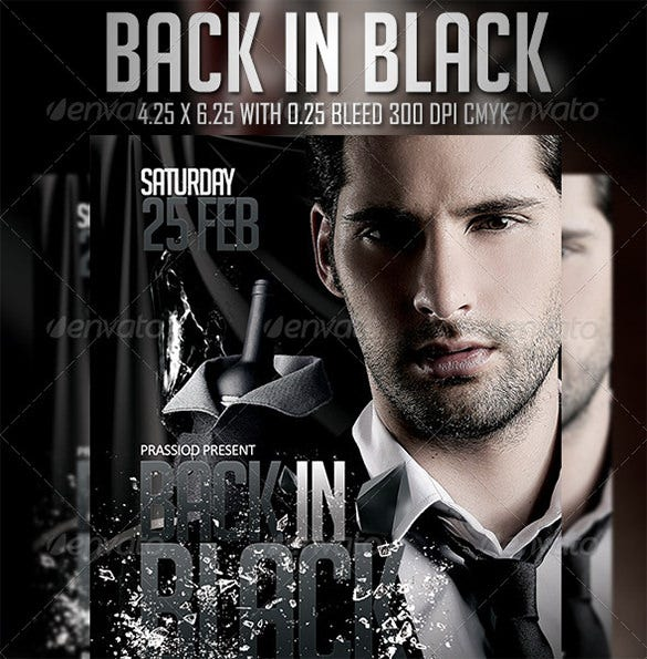back in black flyer template